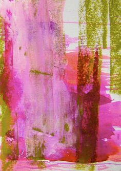 color combinations- pinks, chartreuse, reds...white  Abstract - Amanda Collis