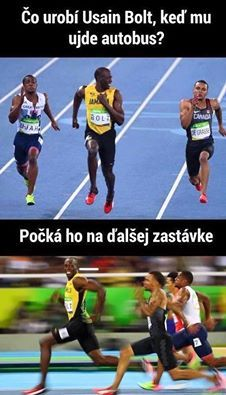 Usain Bolt makes history by winning the 3 x in a row. Search for Fun - Funny Clone Meme 2018 Usain Bolt makes history by winning the 3 x in a Funny True Quotes, Funny Relatable Memes, Funny Jokes, Hilarious Stuff, Fun Funny, Super Funny, Funny Sports Memes, Sports Humor, Usain Bolt Memes