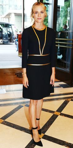 Look of the Day - September 7, 2014 - Diane Kruger in Prada from #InStyle