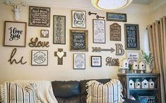 Diy wall decor for living room wall decor living room wall project with quotes in frames . Unique Wall Decor, Diy Wall Decor, Diy Home Decor, Wall Decorations, Laundry Room Wall Decor, Living Room Decor, Bedroom Decor, Mur Diy, Decoration Inspiration