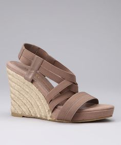 Take a look at this Taupe Deluxe Platform Wedge by Chinese Laundry on #zulily today!