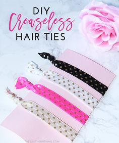 DIY Creaseless Hair Ties Tutorial @walgreens  #RethinkMyColour #ad