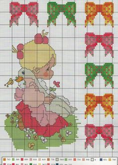 Cross Stitch Baby, Cross Stitch Charts, Cross Stitch Patterns, Precious Moments Coloring Pages, Swedish Weaving, Tatty Teddy, Holly Hobbie, Diy Christmas Ornaments, Crafts To Do
