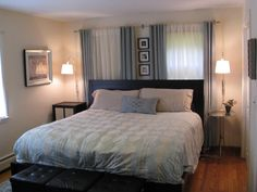 how to offset bedroom wall with one window - Google Search