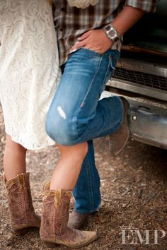 engagement photo...:)  I know this will never happen because travis is the least cowboy person I know ... but I love it