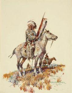 Nick Eggenhofer, Indian chief on horseback KP