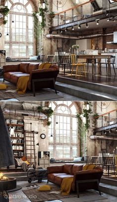 Home Designing - (over 40 incredible lofts that push boundaries - home design id. - Home Designing – (over 40 incredible lofts that push boundaries – home design ideas # - Industrial Interior Design, Industrial House, Industrial Interiors, Home Interior Design, Interior Architecture, Industrial Style, Industrial Loft Apartment, Industrial Furniture, Industrial Farmhouse