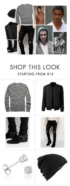 """""""Ootd [ Chadwick ]"""" by believe-in-you-always ❤ liked on Polyvore featuring American Eagle Outfitters, LE3NO, ASOS, Sik Silk, Amanda Rose Collection, Burton, men's fashion and menswear"""