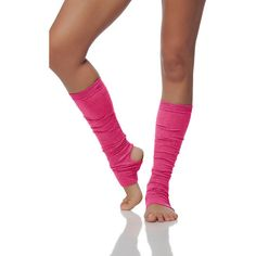 Alinamalina Dance and Yoga Socks Pink Leg Warmers Dance and Yoga Spats ($23) ❤ liked on Polyvore featuring activewear, yoga activewear, athletic sportswear and pink sportswear