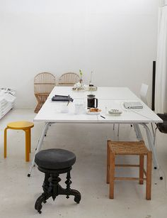 carina seth andersson's studio in sweden, photographed by leslie williamson. Interior Exterior, Modern Interior, Interior Styling, Interior Architecture, Interior Decorating, Studio Interior, Decorating Ideas, Decor Ideas, Home And Deco