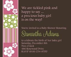 Finding Baby Stylish Shower Invitations to Complement Your Baby Party Baby Shower Poems, Baby Shower Invitation Cards, Stylish Baby, Baby Party, Youre Invited, Rsvp, Unique Baby, Baby Shower Invitation Wording