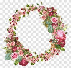 Picture Frames Flower Vintage Clothing Rose Clip Art - Floral Wreath Transparent PNG