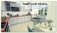 Small Nordic Kitchen For The Sims 4