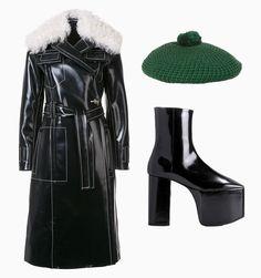 Пальто Proenza Schouler, 353677 р., farfetch.com; берет Gucci, £220, net-a-porter.com; ботильоны Balenciaga, €925, mytheresa.com