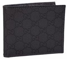 NEW Gucci 260987 Men's BLACK Nylon GG Guccissima Bifold Wallet #Gucci #Bifold