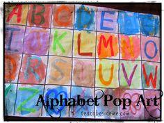 Alphabet Pop Art - Teach Beside Me