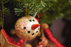 Cedar Lodge Book Page Snowman #Ornaments #holiday #decorations