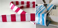 Sewing with Oilcloth–striped tote bag   MADE