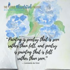 "Painting is Poetry, quote by ""da Vinci"""