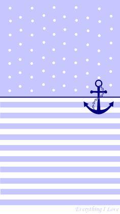 Simple Pastel Anchor iPhone Wallpaper Lock Screen @PanPins