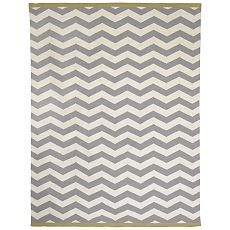 Zig Zag Rug from West Elm. Perfect match for my yellow and grey room!