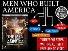 Men Who Built America Assignment all Episodes History ChannelThis product is also included in a bundle that has all of my best-selling  FIRST SEMESTER OF US HISTORY  or try my  THE WHOLE YEAR OF US HISTORYThis is an assignment that I created seeing the need for a good explanation of big business in the 1800's.