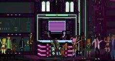 The Last Night Is Flashback Meets Blade Runner In Pixel Art Pixel Art Background, Shot By Shot, Beat Em Up, Game Assets, Shadowrun, Last Night, Blade Runner, Indie Games, 8 Bit