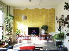 Impressive focal wall. Tape+paint!