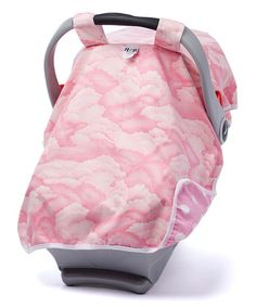 This Pink Clouds Canopy Car Seat Cover is perfect! #zulilyfinds