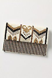 As an admirer and collecter of vintage evening bags I love the look and feel of this modernized version from Anthropologie. I could easily use it for day or night.