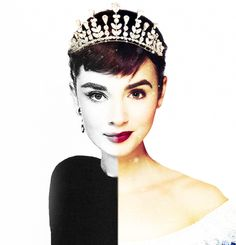"""Audrey Hepburn / Lily Collins  """"I'm honored because she is a huge inspiration for me. She's so timeless and she said so much with her eyes without saying anything at all. I loved her posture, the way she carried herself. She could be so endearing and make you cry and laugh. I loved her demeanor. Audrey Hepburn is a total class act."""""""
