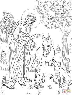 Św. Franciszek z Asyżu | Super Coloring