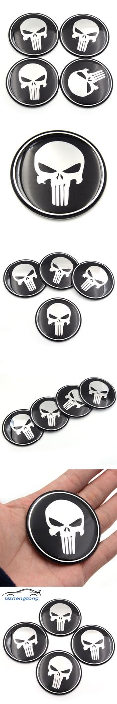 Gzhengtong Cool Punisher Car Steering tire Wheel Center car sticker Hub Cap Emblem Badge Decals Symbol For Toyota