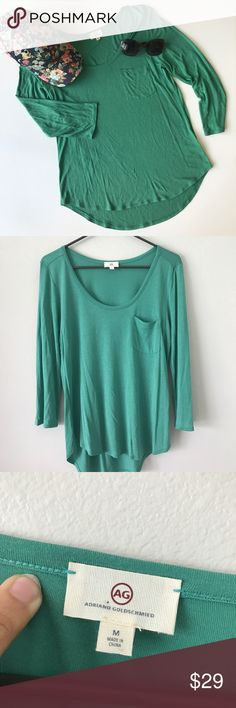 AG Adriano Goldschmied 3/4 Sleeve Pocket Tee Great condition, super soft and figure flattering. Lightweight pocket tshirt. Ag Adriano Goldschmied Tops Tees - Long Sleeve