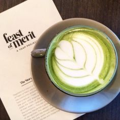 Beautiful green goodness from our dear friends at @feastofmerit - so much latte love! enjoyed this #mixnmatcha magic on the side of a delicious breakfast feast the other day. SO GOOD!