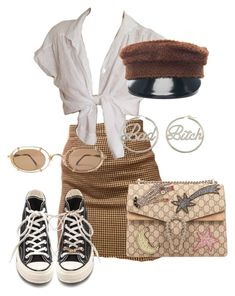 """""""Sans titre #3537"""" by mstfscxrus ❤ liked on Polyvore featuring Ruslan Baginskiy, me you, Gucci and Converse"""