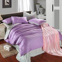 Сплошной цвет Хлопок / Целлюлозная ткань / Шелково-шерстяная ткань 4 предмета…