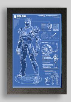 Iron Man Mark 2 Suit Blueprint