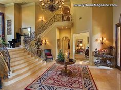 Love this foyer and staircase