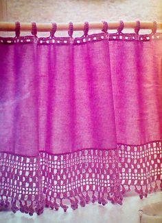 Vintage Crochet Cafe Curtain Pattern por MAMASPATTERNS en Etsy