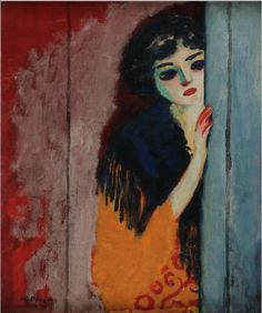 Kees van Dongen The Gypsy (The Curious Girl), ca. Oil on canvas (The Fauves) Art And Illustration, Art Fauvisme, Modern Art, Contemporary Art, Inspiration Art, Dutch Painters, Post Impressionism, Art Station, Art Database