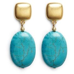 Kenneth Jay Lane Marbled stone drop earrings (2.450 RUB) ❤ liked on Polyvore featuring jewelry, earrings, blue, earring jewelry, kenneth jay lane earrings, blue earrings, stone drop earrings and special occasion jewelry