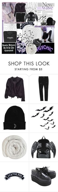 """✝️ Just pull the plug yeah, I've had enough ✝️"" by amberishdead ❤ liked on Polyvore featuring Brandy Melville, Anja, GET LOST, Chanel, Iron Fist, GAS Jeans and Kreepsville 666"