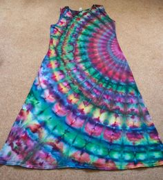 Audacious Tie Dye - Peacock Dress