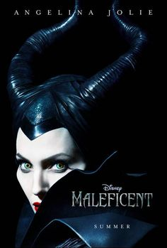 Check out Angelina Jolie in the new #MALEFICENT #Disney #movie poster. #Film  #AngelinaJolie