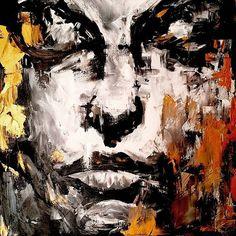 Inspired by the artist Max Gaspirini  #art #artist #artwork #abstract #painting #portrait #acrylicpainting #acrylic #blackandwhite #gold #creative #maxgasparini