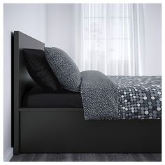 IKEA MALM ottoman bed Real wood veneer will make this bed age gracefully.
