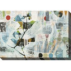 """For over sofa in quiet room upstairs. ****Local artist.**** Judy Paul 'Meander II' Giclee Canvas Art  48""""Wx34""""H, a steal for the size at $139."""