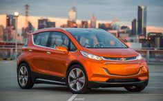 General Motors finally unveiled the much-anticipated Chevrolet Bolt EV at the North American International Auto Show in Detroit. The concept, which is expected to. Electric Bolt, Electric Car Concept, All Electric Cars, Electric Vehicle, Electric Charge, Chevy, Chevrolet Volt, Chevrolet 2015, General Motors