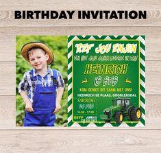 John Deere Party Invitation Design www.hellopretty.co.za